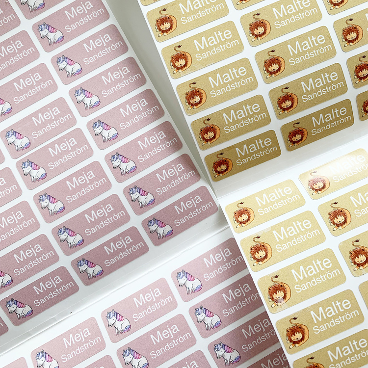 PERSONALISED NAME LABELS STICKERS