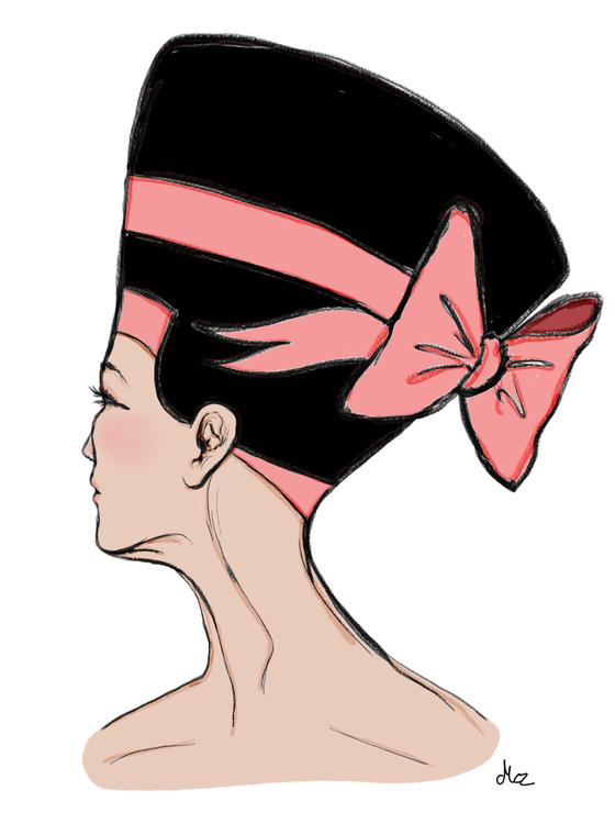 Nefertiti i modern hatt