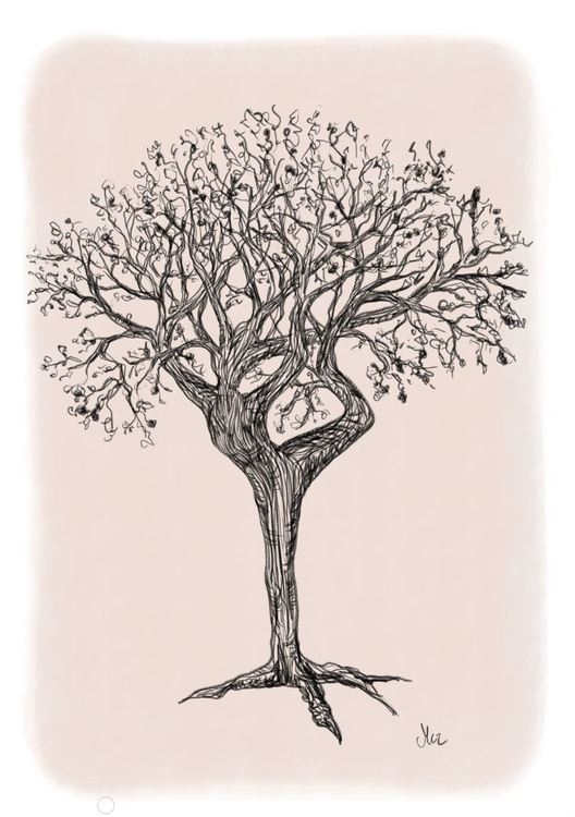 Dancing tree in colors