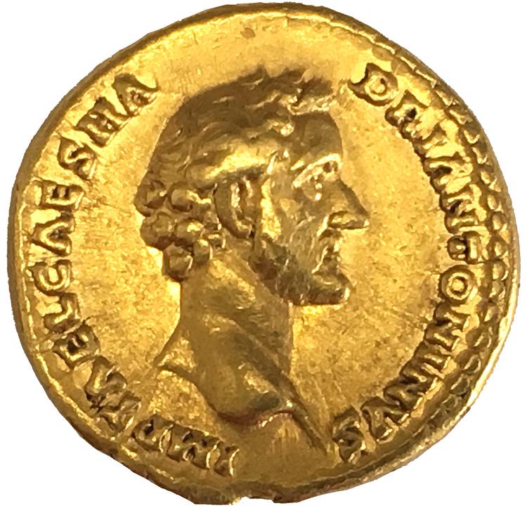 Romerska riket, Antoninus Pius 138-161 e.Kr, Aureus GULD - VACKERT EXEMPLAR