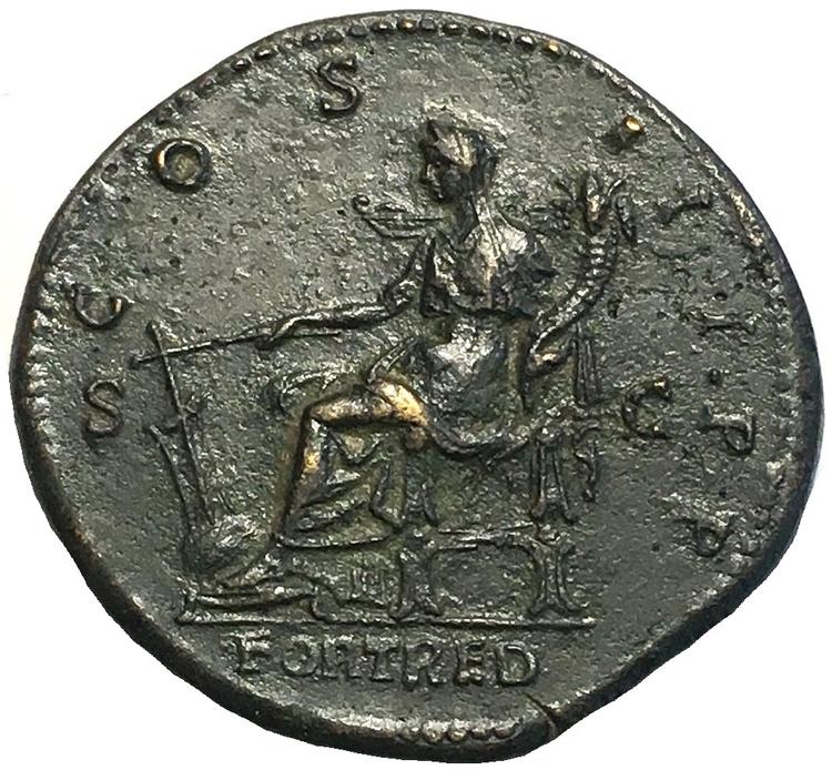 Romerska riket, Hadrianus 117-138. Sestertie i TOPPKVALITET