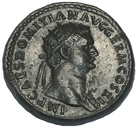 Romerska Riket, Domitianus 81-96 e.Kr. Dupondius i PRAKTSKICK - MINT CONDITION