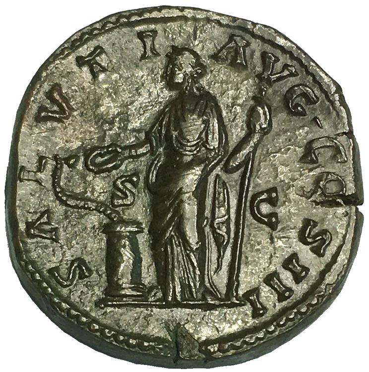 Romerska Riket, Markus Aurelius 161-180 e.Kr, Sestertie - PRAKTSKICK