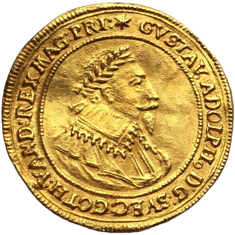 Sverige, Gustav II Adolf 1611-1632, Nürnberg, Gulddukat 1632