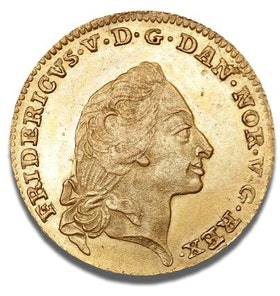 Danmark, Frederik V, Guld, Kurantdukat 1759 - OCIRKULERAT TOPPEXEMPLAR