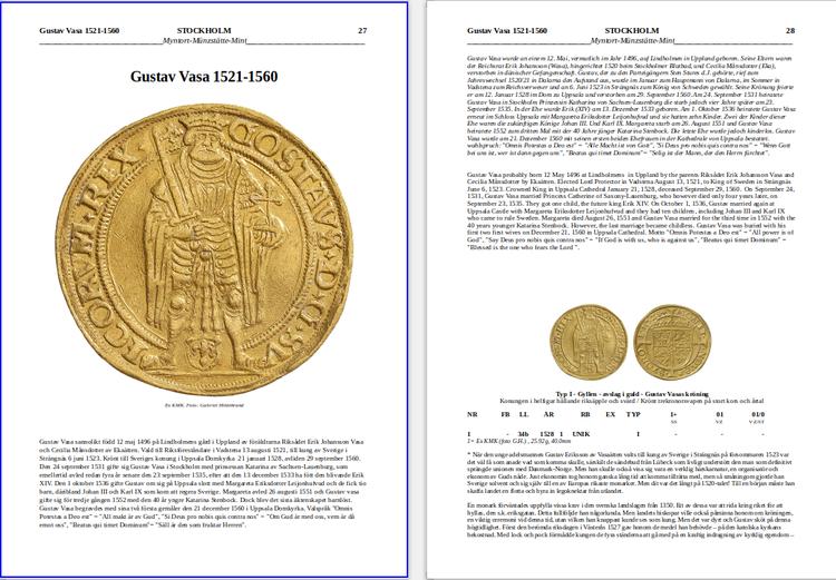SVERIGES GULDMYNT 1512-2020 - Värderingskatalog med inventering och statistik