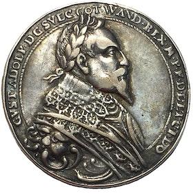 Sverige, Gustav II Adolf 1611-1632 med sin hustru Maria Eleonora - Minnesmedalj i Silver