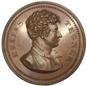 Sverige, Esaias Tegnér 1782-1846 - VACKER BRONSMEDALJ