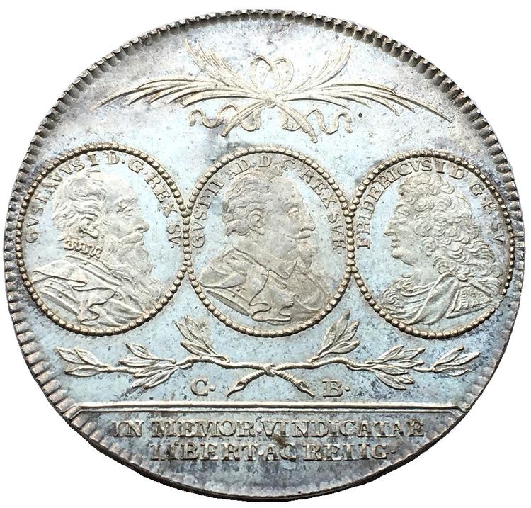 Sverige, Karl XIV Johan 1818-1844,  Jubileumsriksdaler 1821  - DRÖMEXEMPLAR