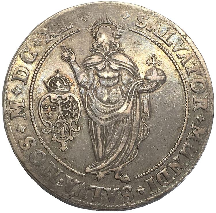 Sverige, Kristina, Sala, Silverriksdaler 1640 - MYCKET VACKERT OCH OVANLIGT SKARPT EXEMPLAR