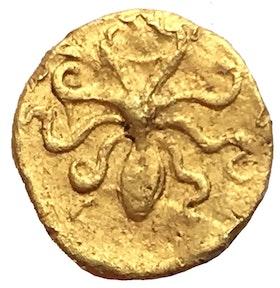 Antika Grekland, Sicilien, Syrakusa, Agathocles 317/316-289 f.Kr - 5 Litrai - GULD - MYCKET SÄLLSYNT - XR