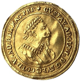 Sverige, Gustav II Adolf 1611-1632, Nürnberg Gulddukat 1632