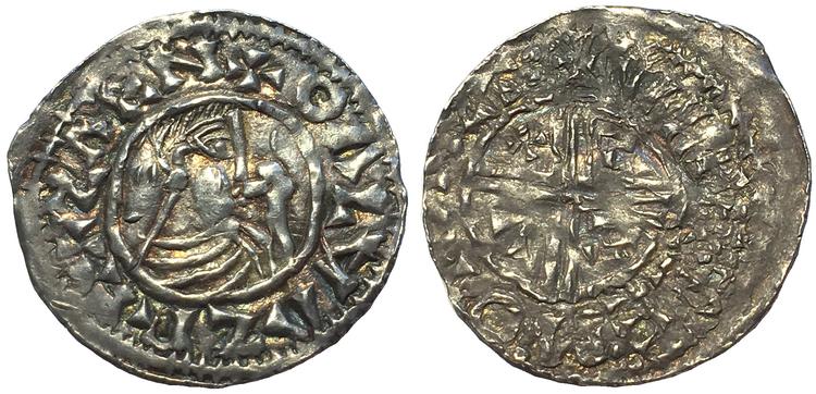 Sverige, Olof Skötkonung ca 995-1022, Sveriges första mynt, Penning i silver