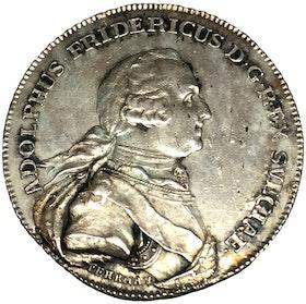 Sverige, Adolf Fredrik 1751-1771, Kastmynt till konungens begravning 1/3 riksdaler i silver 1771 - VACKERT EXEMPLAR