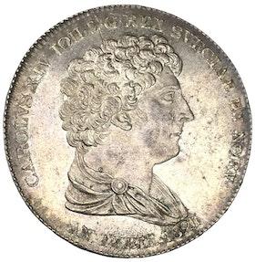 Sverige, Karl XIV Johan 1818-1844, Silver - Jubileumsriksdaler 1821 OCIRKULERAT EXEMPLAR