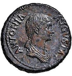 Romerska Riket, Antonia, Dupondius (mor till Claudius) - FANTASTISK KVALITET