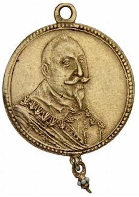 Sverige, Gustav II Adolf 1611-1632, Tapperhetsmedalj 1632 i guld med pärlhänge, YTTERST SÄLLSYNT, RRR