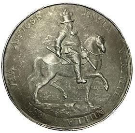 Sverige, Karl X Gustav 1654-1660, Medalj 1658 - Tåget över stora Bält - MYCKET SÄLLSYNT - av Pieter van Abeele