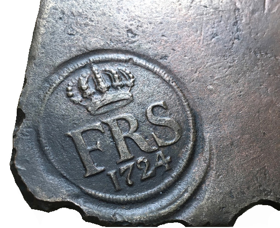 Sverige, Fredrik I 1720-1751, PLÅTMYNT, 2 Daler silvermynt 1724