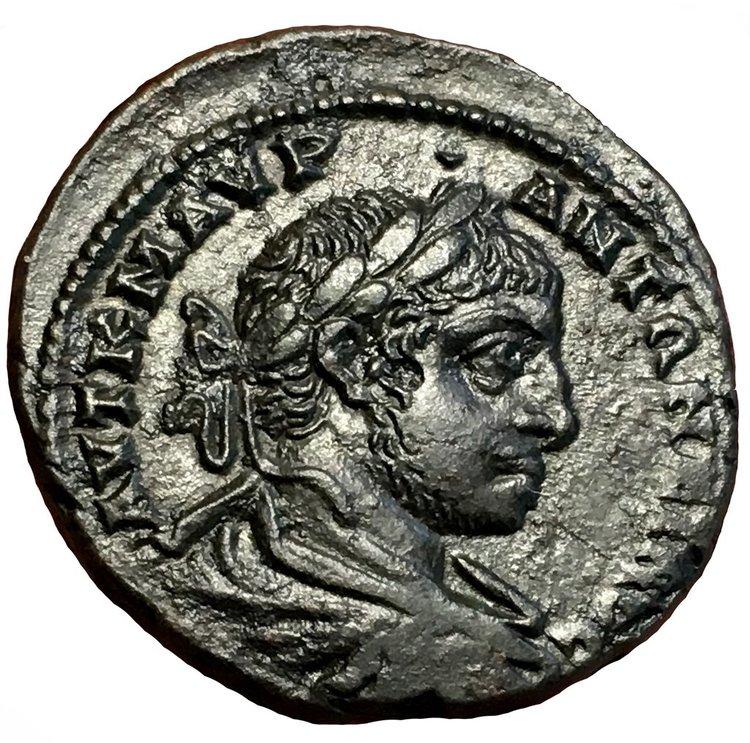 Romerska riket, Elagabalus 218-222 e.Kr Bronsmynt - MINT STATE