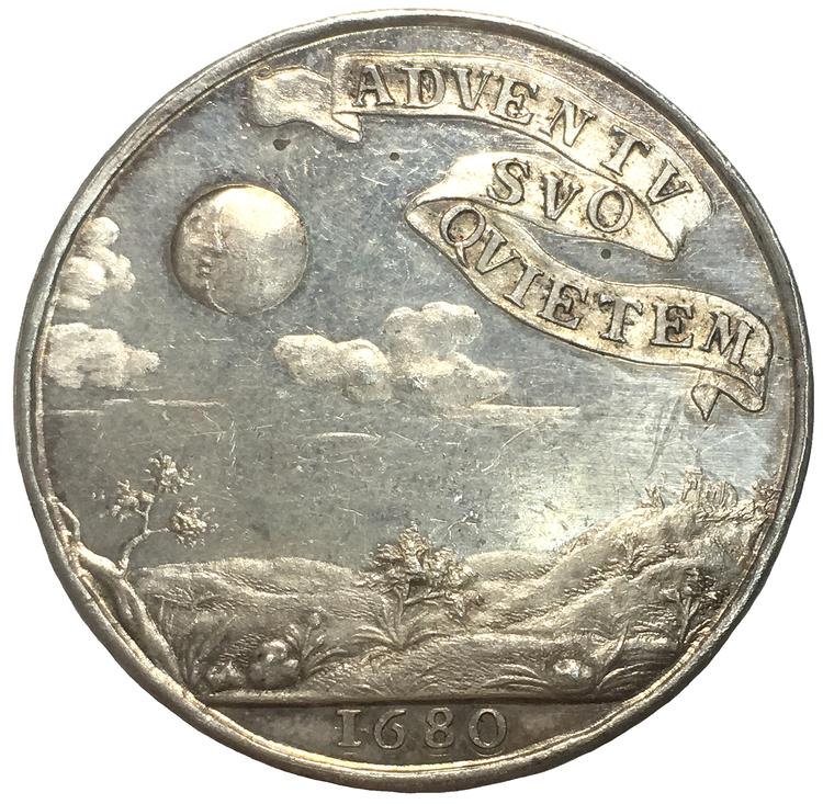 Sverige, Ulrika Eleonoras ankomst till Sverige 1680, Silvermedalj i praktskick - XR, av Arvid Karlsteen