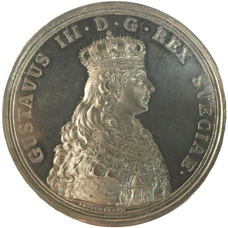 Sverige, Gustav III 1771-1792, Kröningen 1772 - PRAKTEXEMPLAR graverad av G. Liungberger