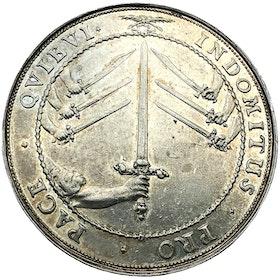 Sverige, Karl X Gustav 1654-1660, Silverriksdaler 1660 till konungens begravning - XR - MEDALJPRÄGLAT PRAKTEXEMPLAR!