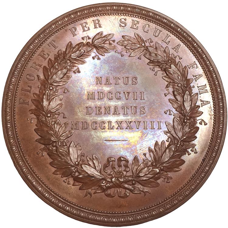 Carolus Linnæus - Carl von Linné 1707-1778 - Vacker stor bronsmedalj av Lea Ahlborn