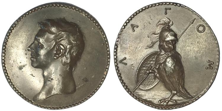 Johann Carl Hedlinger (1691-1771) - Självporträtt 1733 - MYCKET SÄLLSYNT TOPPEXEMPLAR