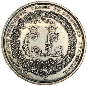 Sverige, Kronprins Carls (XV) giftermål med Lovisa den 19 juni 1850, graverad av P.H. Lundgren