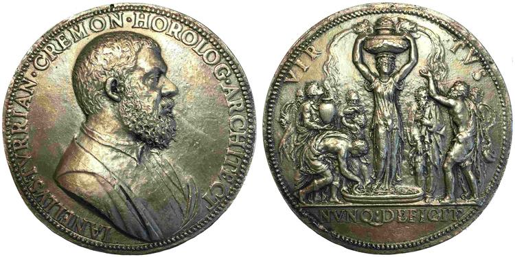Italien - Medalj - Arkitekt & Horlog Gianello della Torre 1500-1585 - SÄLLSYNT!