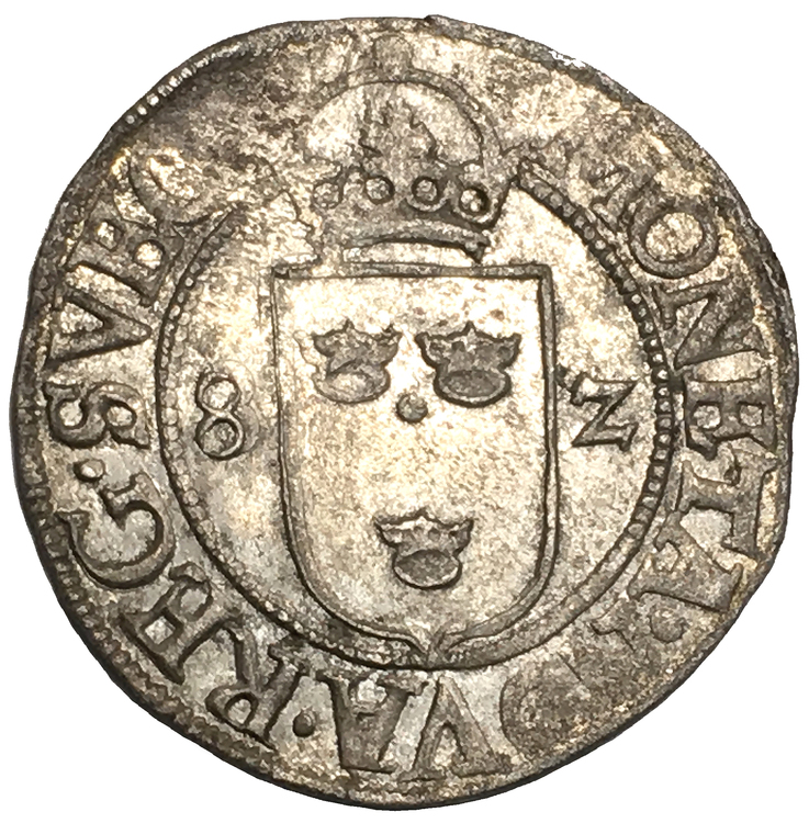 Sverige, Johan III 1568-1592 - 1/2 Öre 1582 - TOPPEXEMPLAR