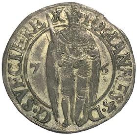 Sverige, Johan III 1568-1592 - 1 Öre 1576 - MYCKET VACKERT EXEMPLAR