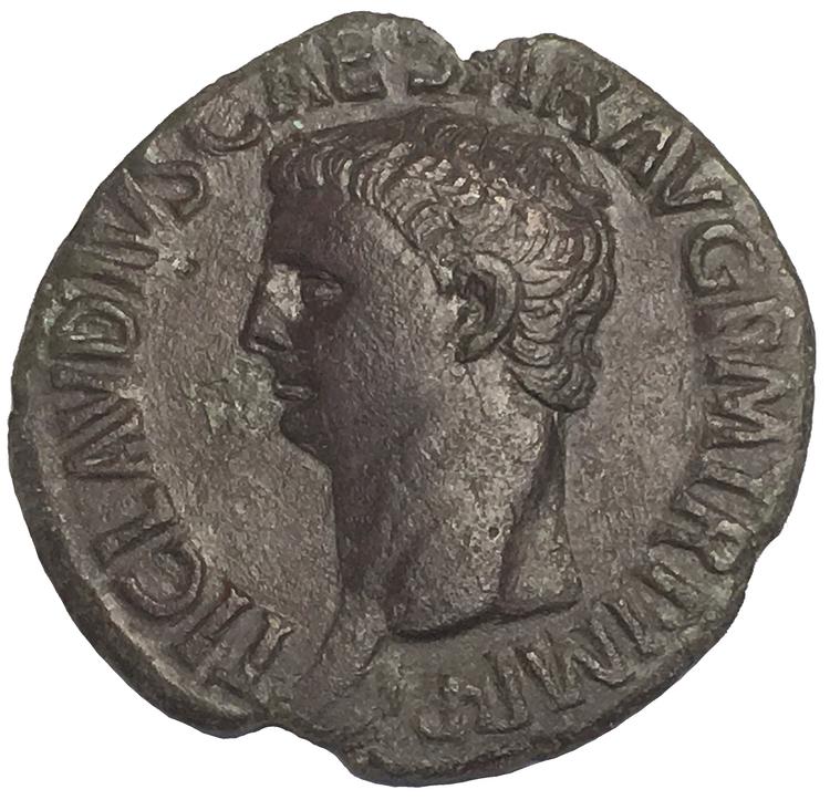 Romerska Riket, Claudius 41-54 e.Kr. Ass - TILLTALANDE SKARPT PORTRÄTT