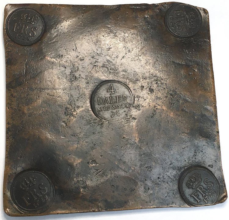 PLåtmynt 4- Daler SM 1729 - Vackert och tilltalande exemplar