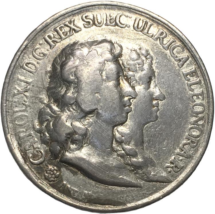 Karl XI och Ulrika Eleonoras giftermål 1680 av Anton Meybusch