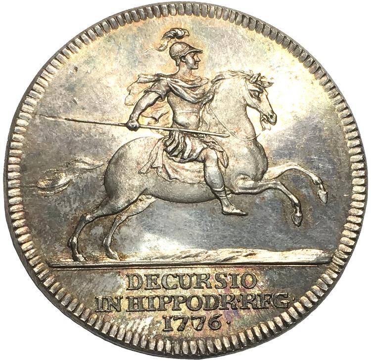 Gustav III - Tornerspel på Ekolsund 1776 - SÄLLSYNT OCH I PRAKTSKICK  av Liungberger