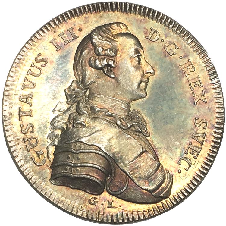 Gustav III - Tornerspelen på Adolf Fredriks torg i Stockholm 1777 - PRAKTSKICK, graverad av Liungberger