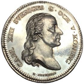 Karl XIII - För befrämjad vaccination, RRR, av M. Frumerie - PRAKTEXEMPLAR