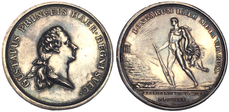 Kronprins Gustav (III) utrikes resa 1770-1771 av C.G. Fehrman