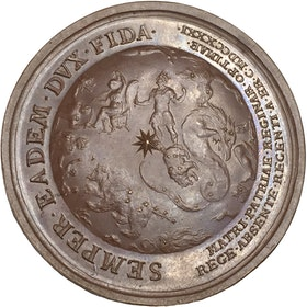 Ulrika Eleonora förestår regeringen inför Fredrik I:s resa till Hessen 1731 - XR - av I.C. Hedlinger