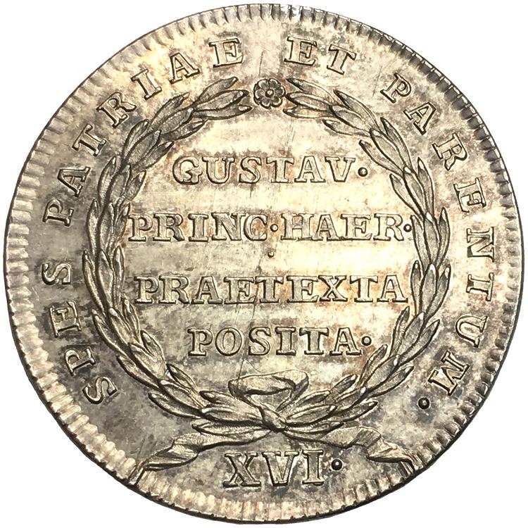 Adolf Fredrik och Lovisa Ulrika - Gustav (III) förklaras myndig 1762 av Daniel Fehrman