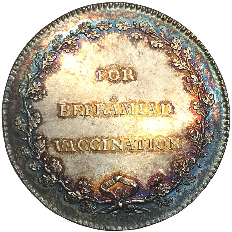 Karl XIV - För befrämjande av vaccination av M. Frumerie - VACKERT EXEMPLAR