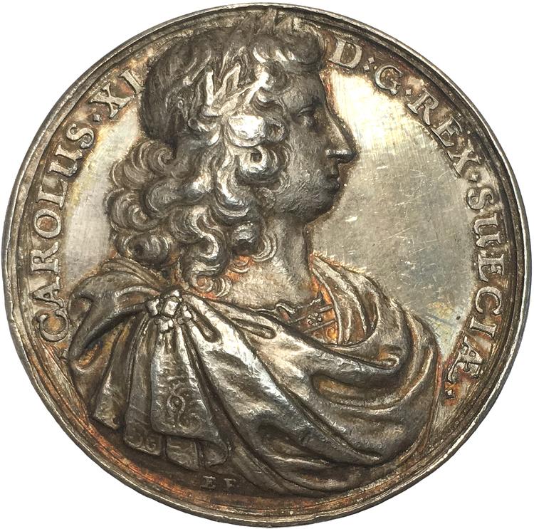 Karl XI - Sveriges inre välstånd - 1680-talet, signatur E.F. - SÄLLSYNT