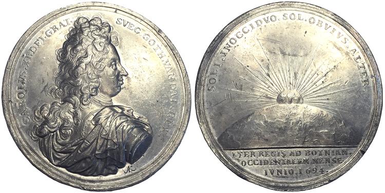 Karl XI:s resa till Västerbotten 1694 för att se midnattssolen av Karlsteen - Extremt sällsynt - RR