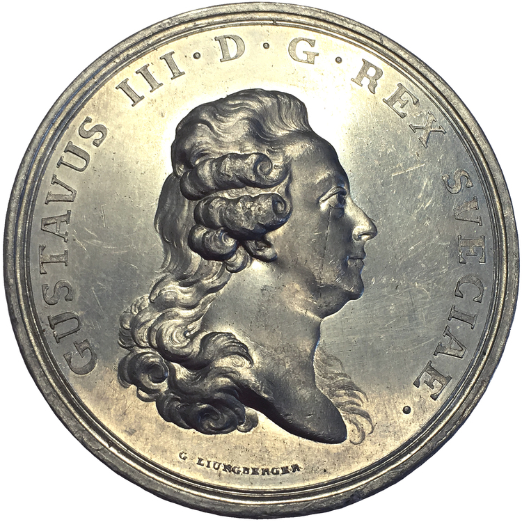 Gustav III 1778 - Ny stat med förbättrade villkor för ämbetsmän - XR av Gustaf Ljungberger