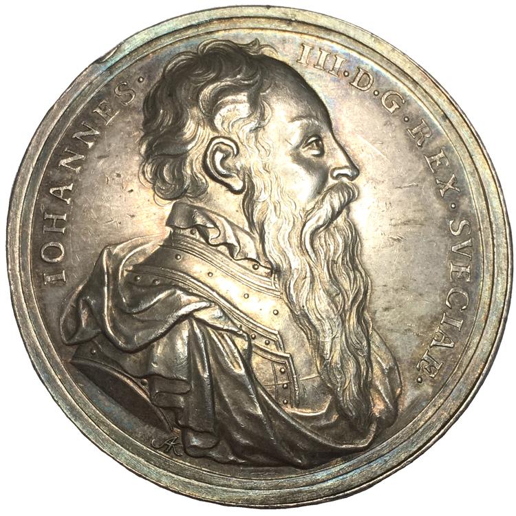 Johan III tillträder regeringen 1568 - graverad av Arvid Karlsteen