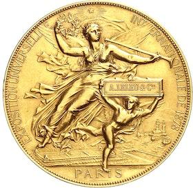 Världsutställningen i Paris 1878 - Stor guldmedalj - RR - Mycket Sällsynt graverad av J.C. Chaplain