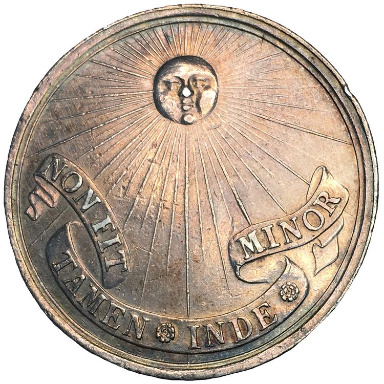 Drottning Kristina abdikerar från svenska tronen 1654 - graverad av Arvid Karlsteen - RR