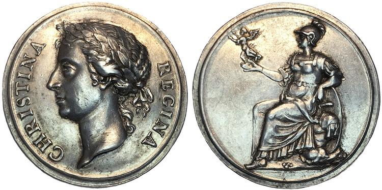 Kristina - Drottningens kröning 20 oktober 1650 - XR - möjligen UNIK i privat ägo, troligen graverad av Parise